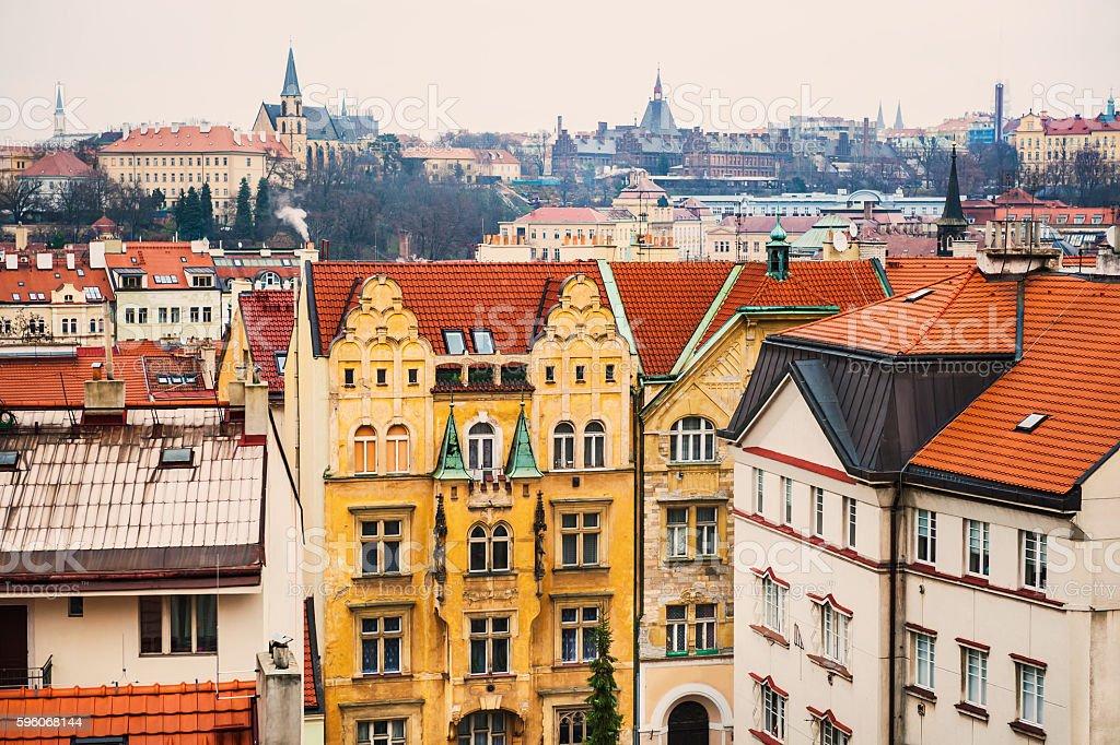 Ancient buildings in Prague, Czech Republic royalty-free stock photo