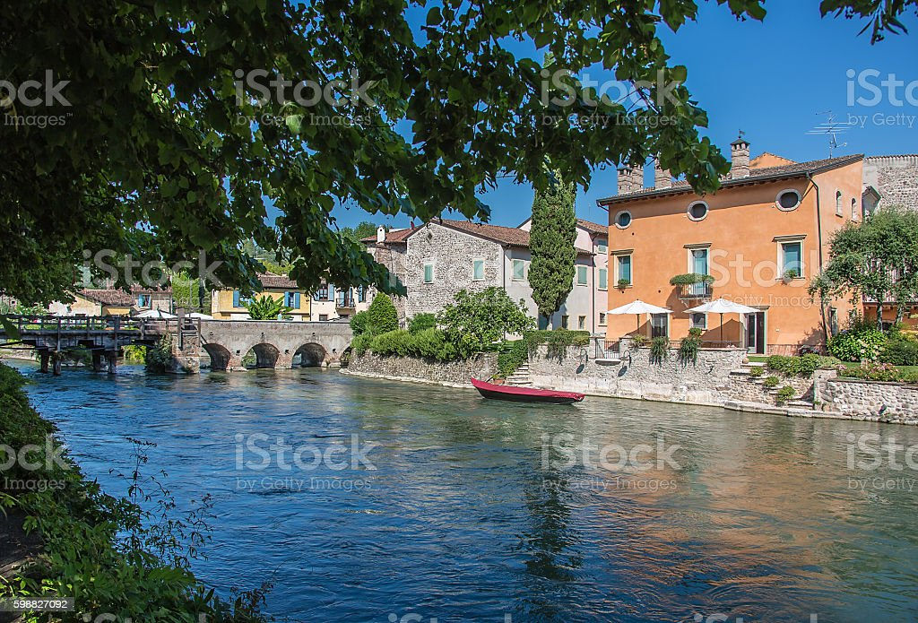ancient buildings of a typical Italian medieval village stock photo