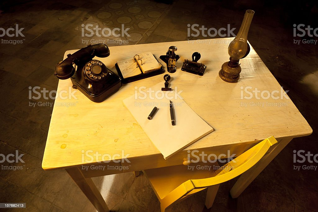 Ancient business stock photo