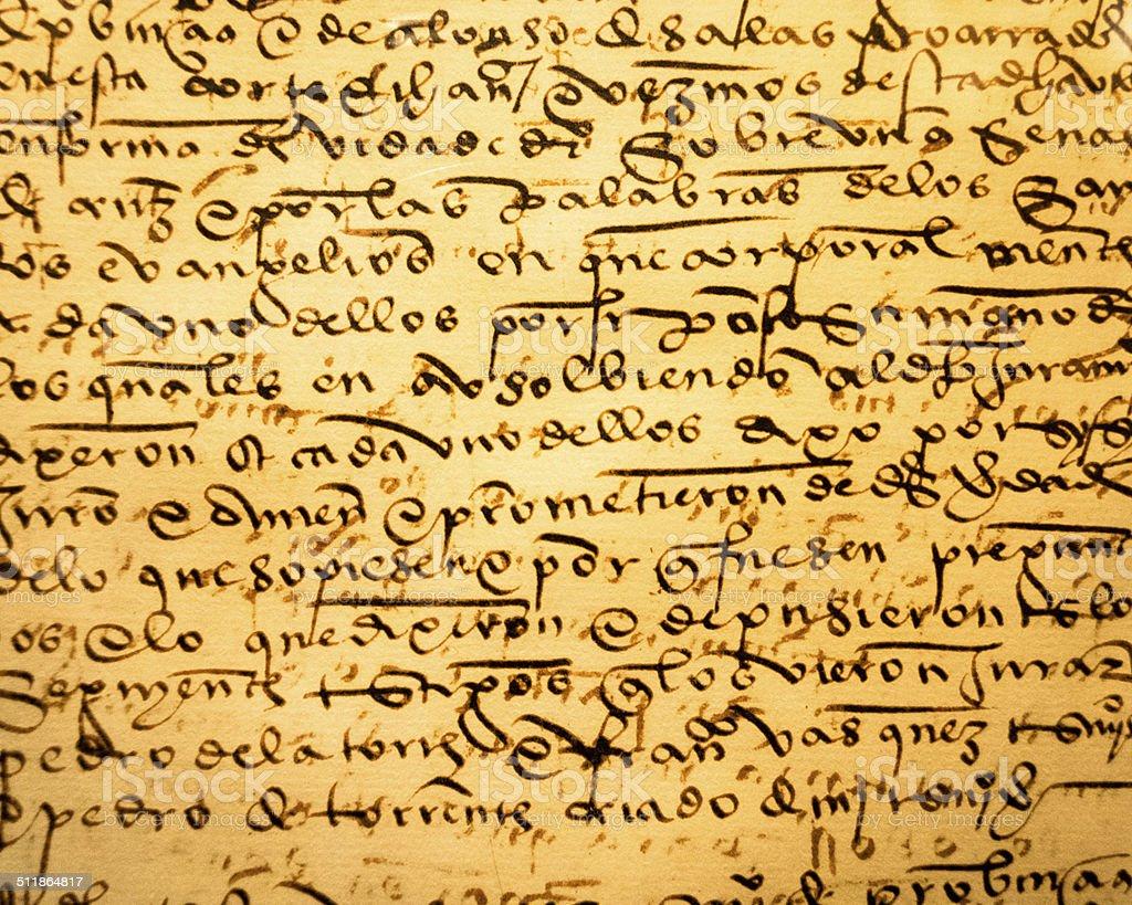 Ancient Calligraphy (1) stock photo
