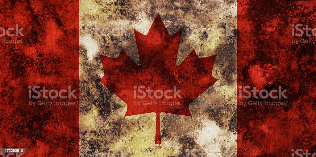 Ancient Canadian flag royalty-free stock photo