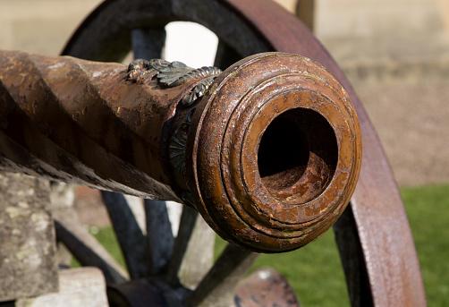 Ancient Cannon Muzzle Close Up View