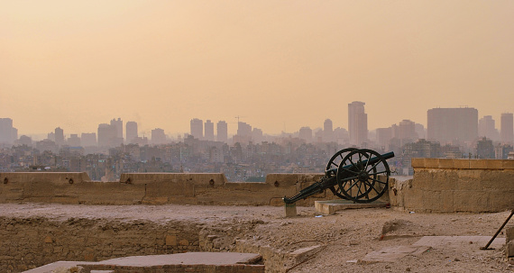 468444004 istock photo Ancient cannon on the roof of the citadel of Cairo, Egypt 623616718