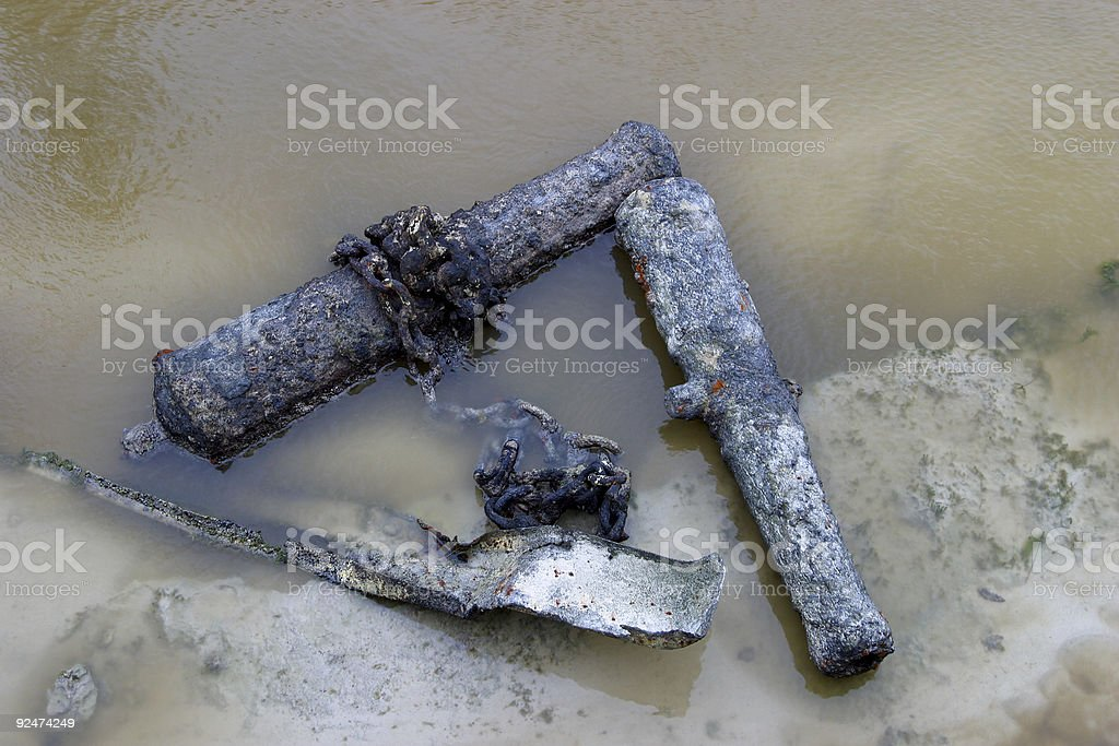 Ancient Canons royalty-free stock photo