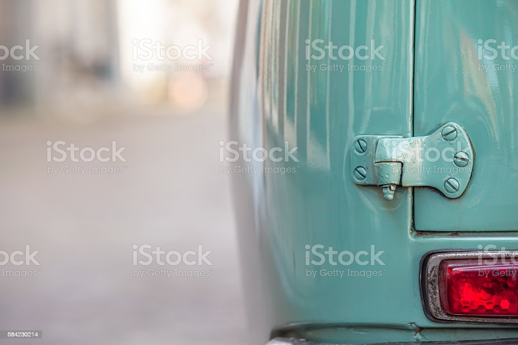 Ancient Car Detail stock photo