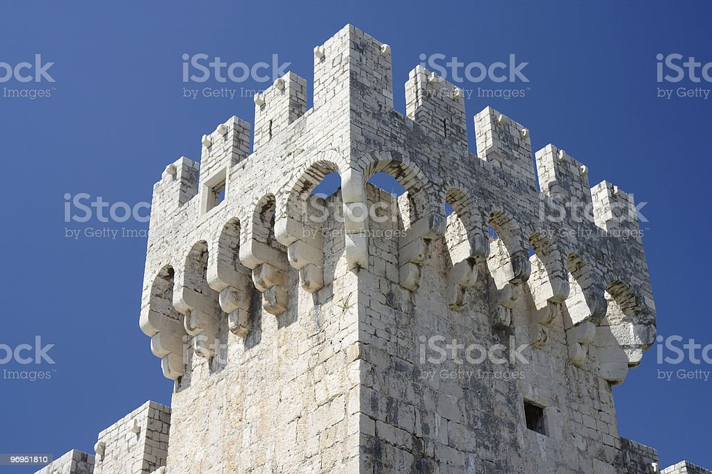 Ancient Castle in Trogir - architectural details royalty-free stock photo