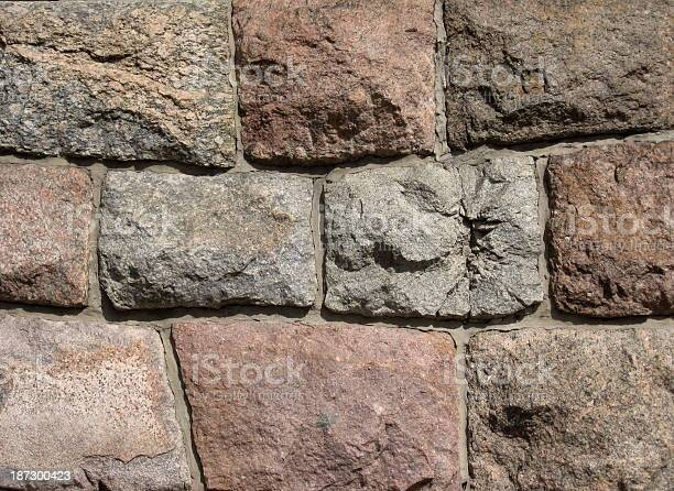 Photo of Ancient castle wall (cold colors composition)