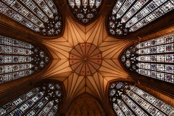 Ancient Cathedral Ceiling stock photo