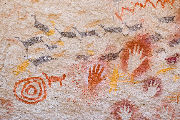 Ancient cave paintings in Patagonia, southern Argentina