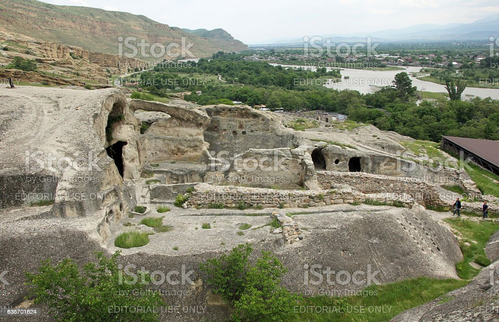Ancient cave town of Uplistsikhe royalty-free stock photo