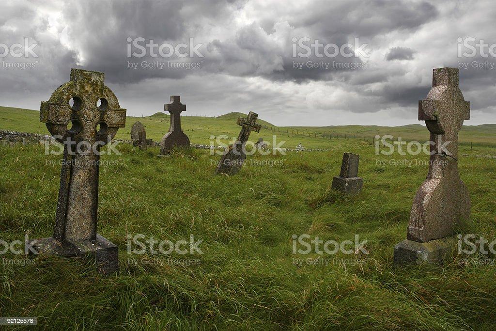 Ancient Celtic gravesite stock photo