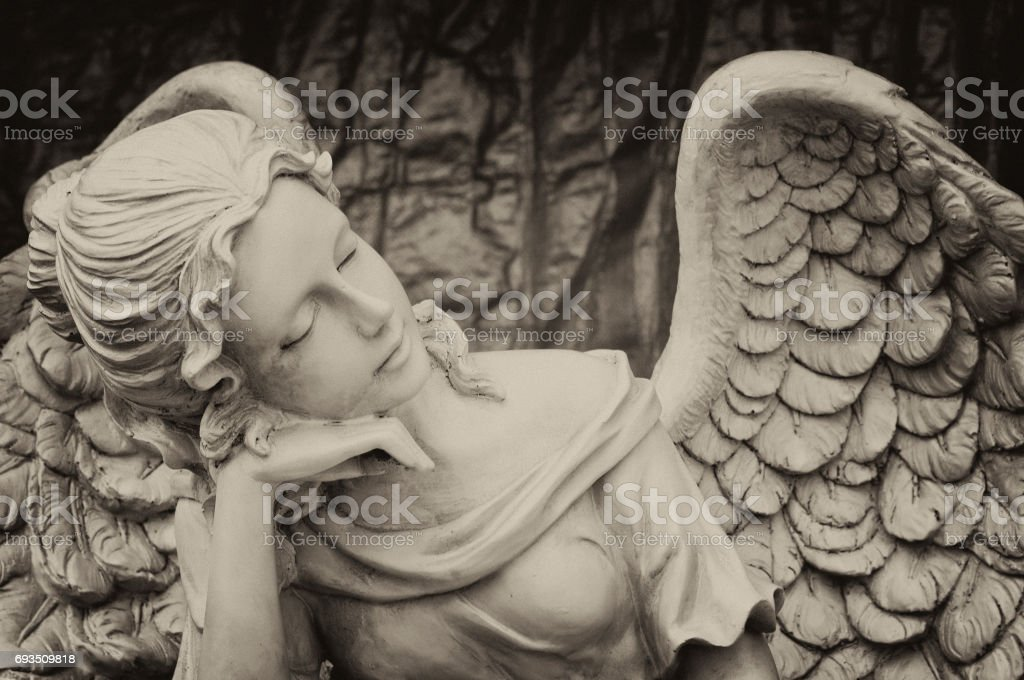 Ancient Cemetery Angel stock photo