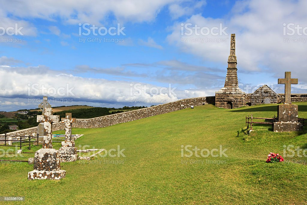 Ancient cemetery in the Rock of Cashel. stock photo