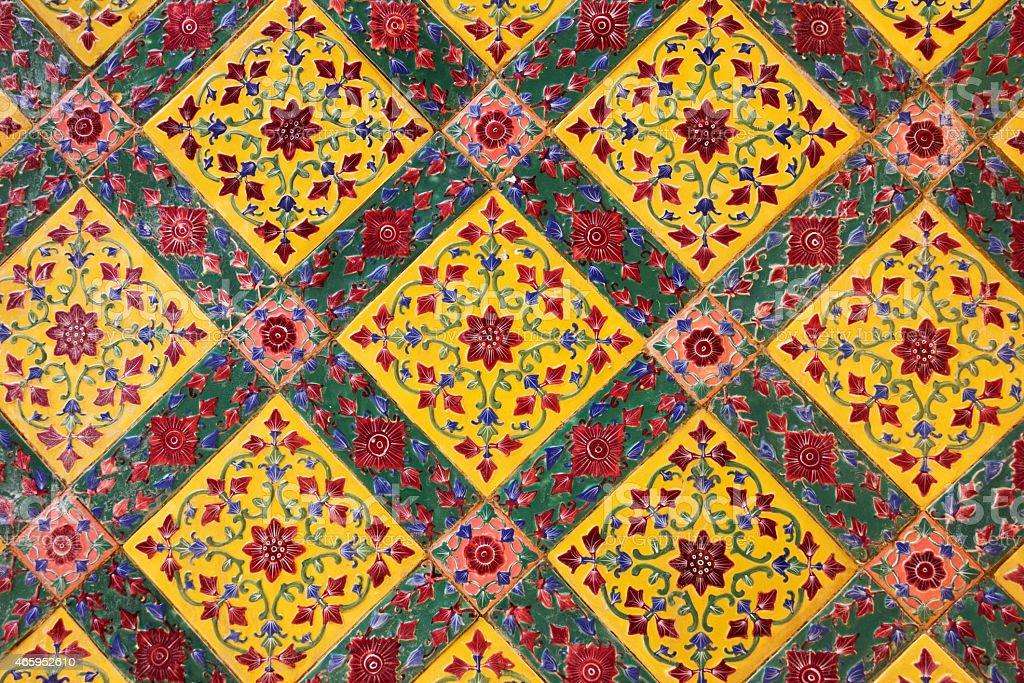 Piastrelle Di Ceramica Decorate.Antiche Piastrelle Di Ceramica Decorata Con Opere Darte