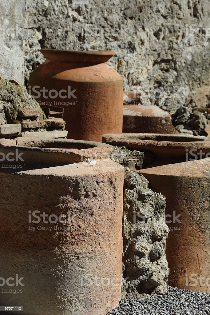 ancient ceramics royalty-free stock photo