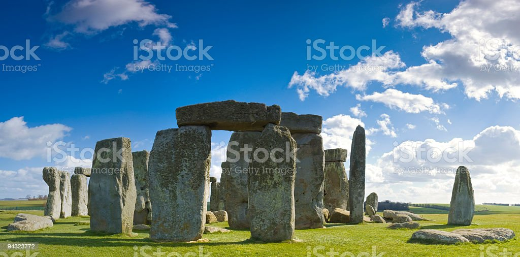 Ancient ceremonial circle stock photo