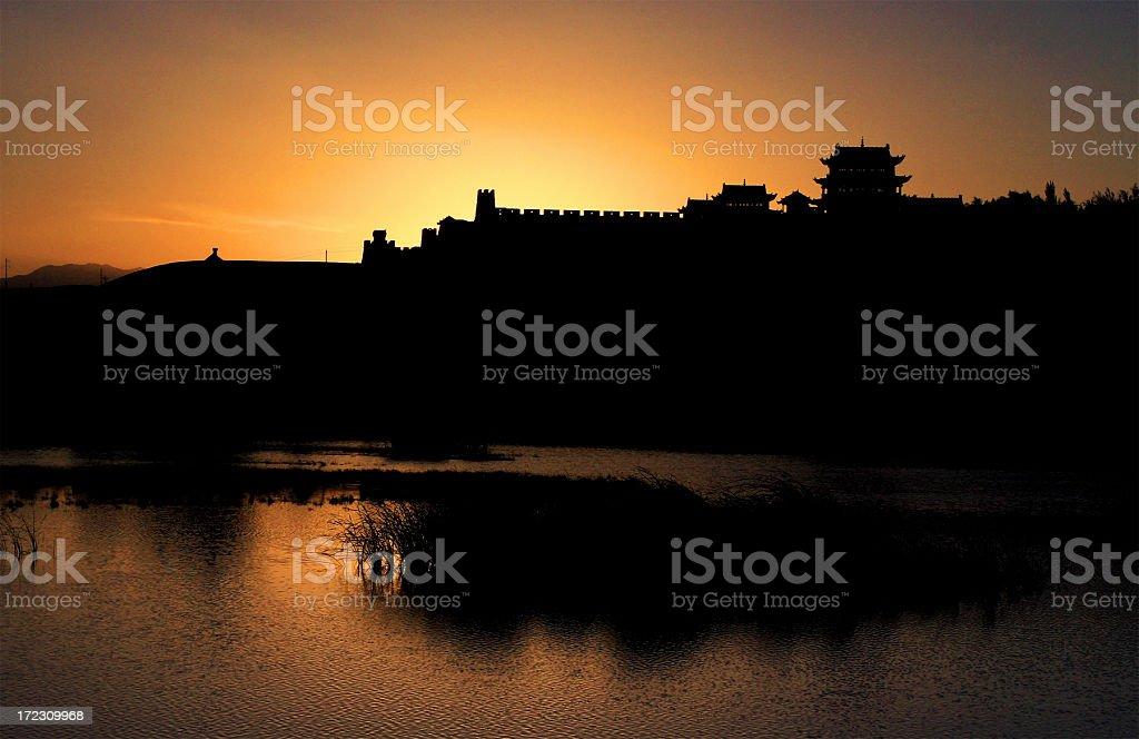 Ancient China Wall royalty-free stock photo