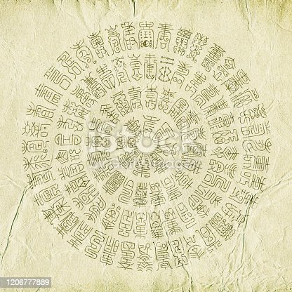 Ancient Chinese characters background