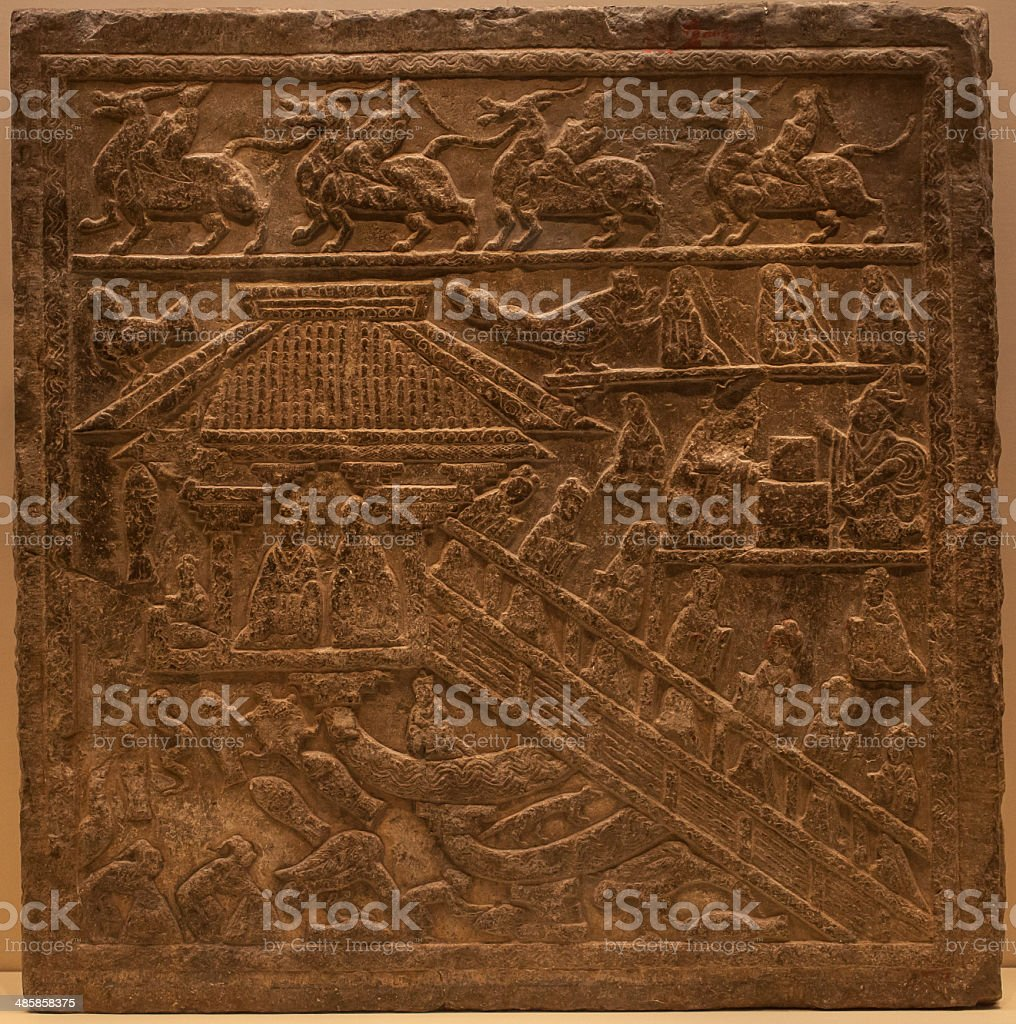 Ancient Chinese Decorative Pattern Textured Background Stock Photo