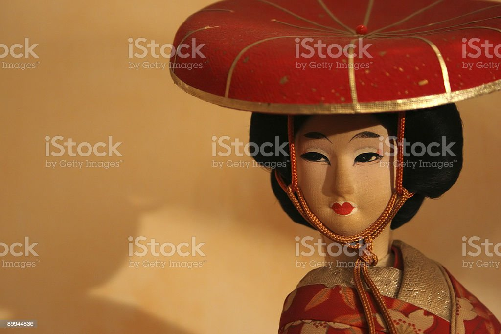 ancient chinese doll royalty-free stock photo
