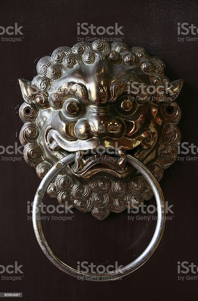 Ancient Chinese Door Knock royalty-free stock photo