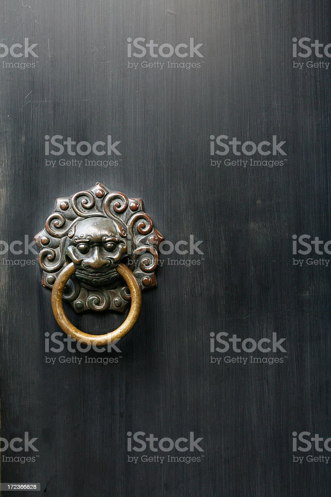 Ancient Chinese Door Knocker royalty-free stock photo