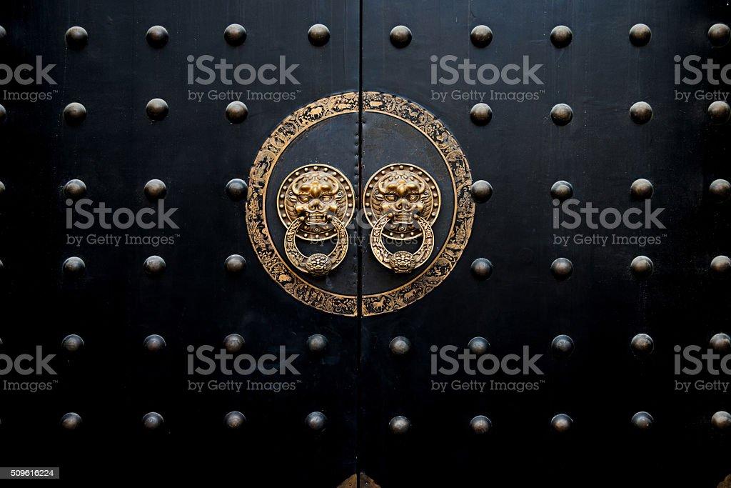 古代中国風ドア ストックフォト