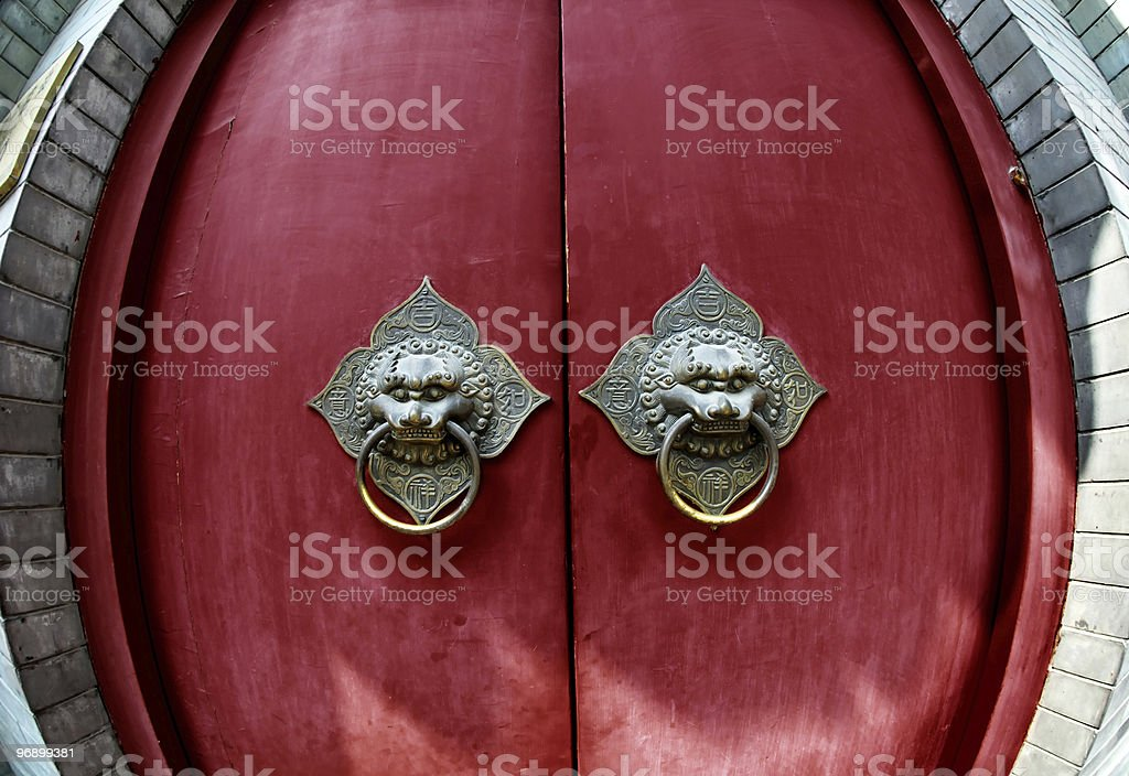 Ancient Chinese door royalty-free stock photo