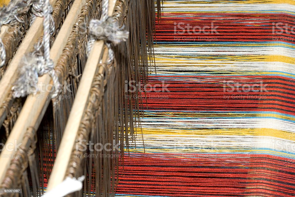 Ancient Chinese loom stock photo