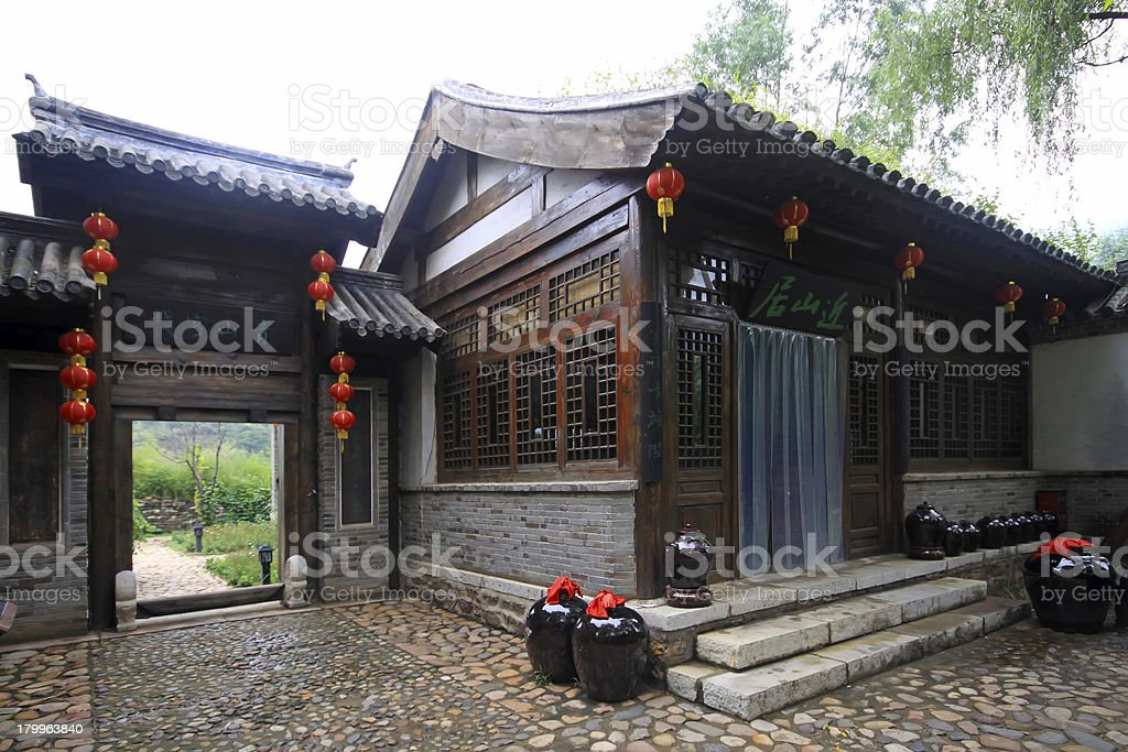 ancient Chinese traditional architectural landscape royalty-free stock photo