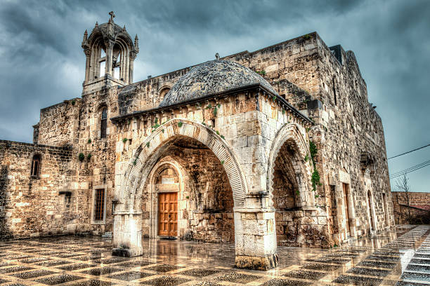 Ancient Church Byblos Lebanon stock photo