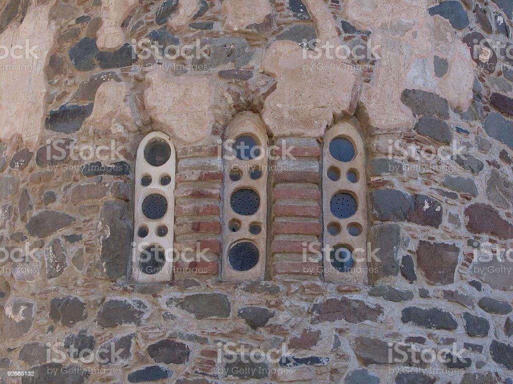 Ancient Church Windows royalty-free stock photo