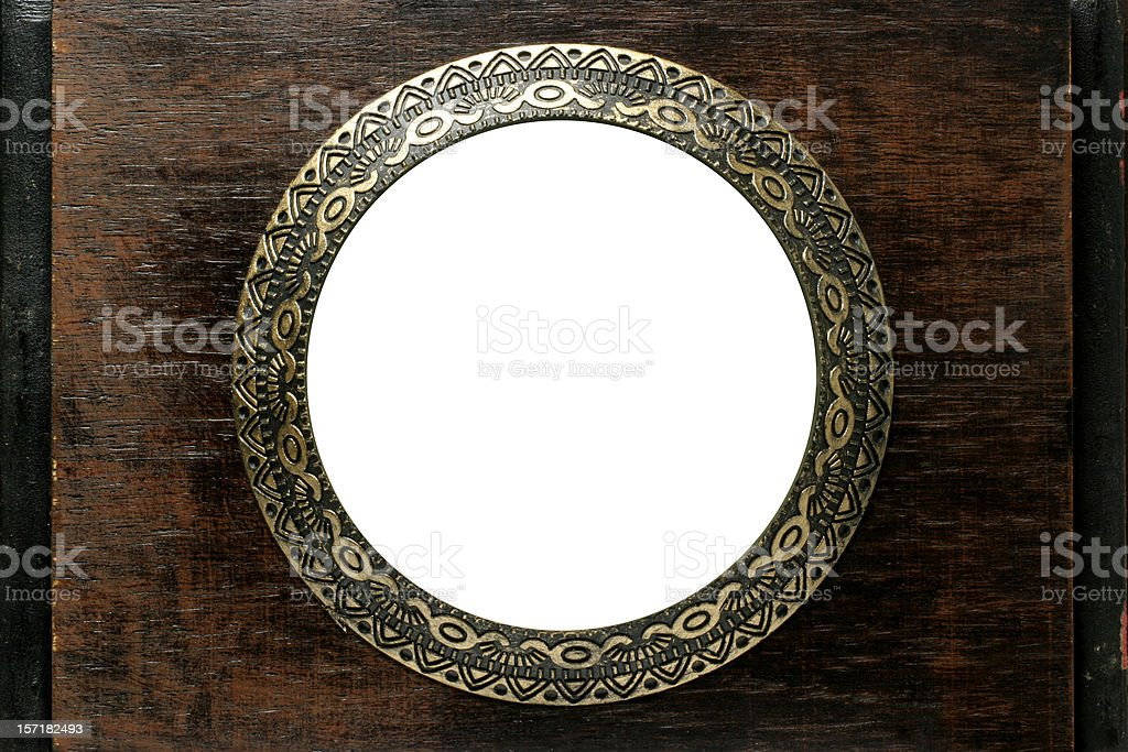 Ancient Circle Frame stock photo