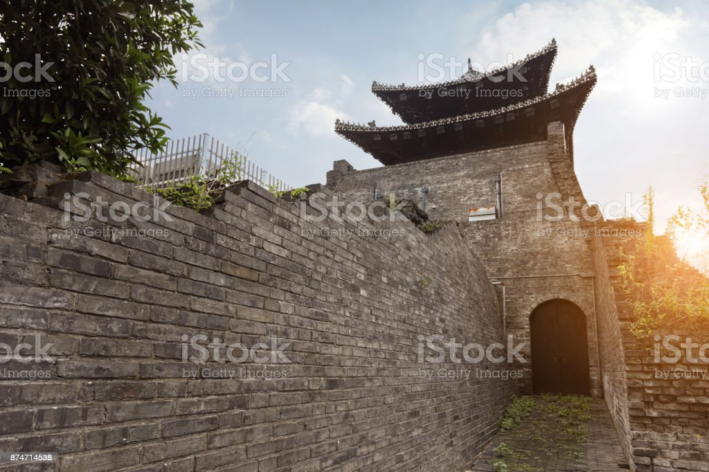 ancient city gate of China stock photo