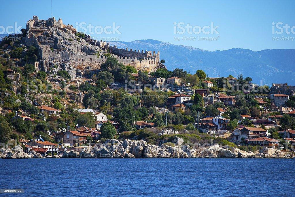 ancient city in Kekova stok fotoğrafı