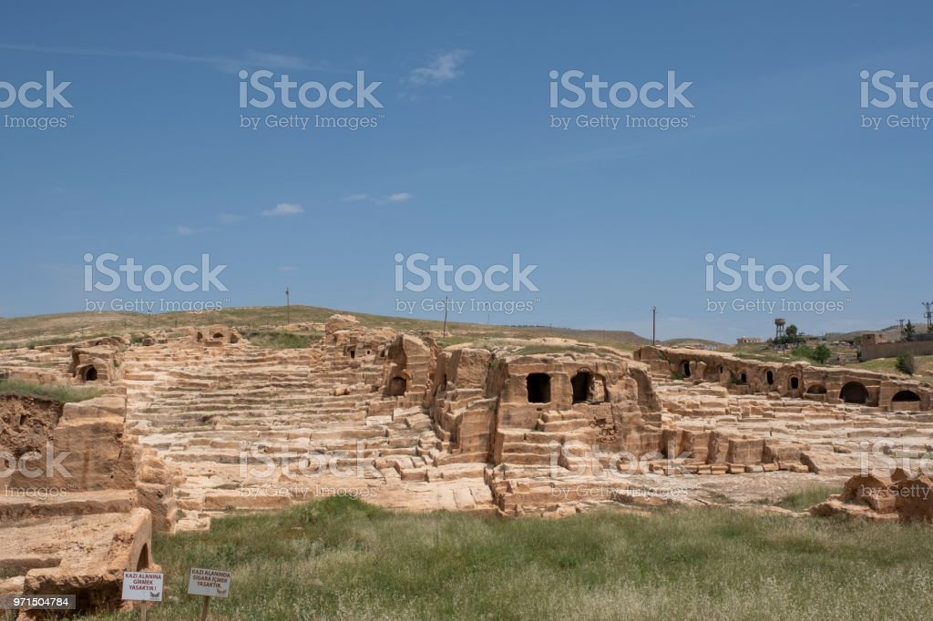 Ancient City of Dara in Marfin, Turkey stock photo