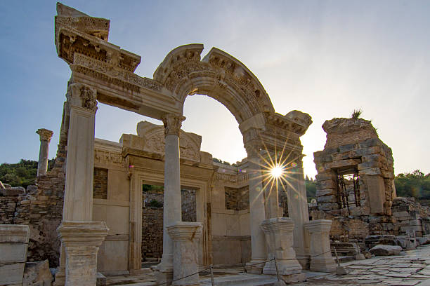 Ancient city of Ephesus in Turkey Ephesus was built in the 10th century BC, and continuously occupied until the 15th century AD. ephesus stock pictures, royalty-free photos & images