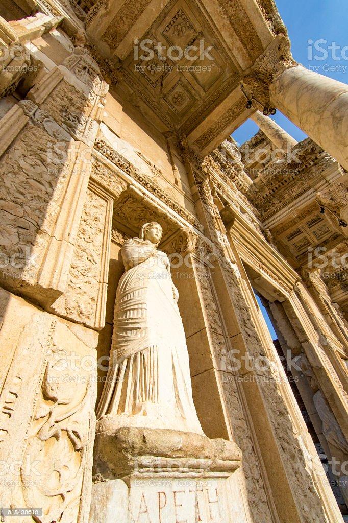 Ancient city of Ephesus in Turkey stock photo