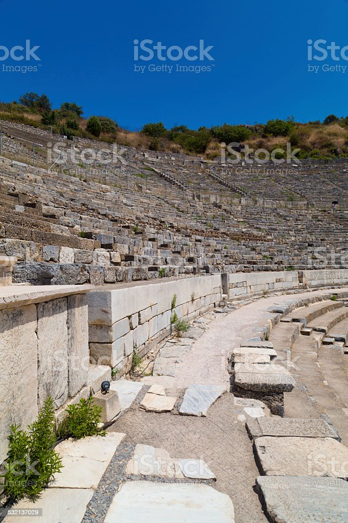 Ancient city of Ephesus stock photo