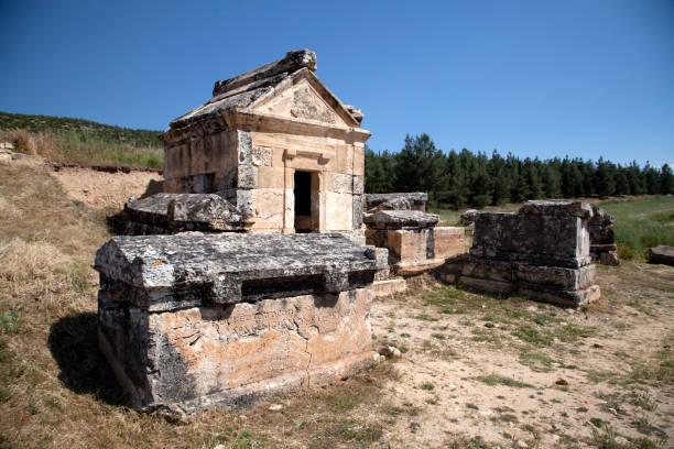 Ancient city of Hierapolis, Pamukkale, Turkey stock photo