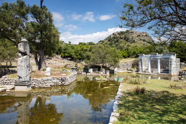 Ancient city of Kaunos stock photo