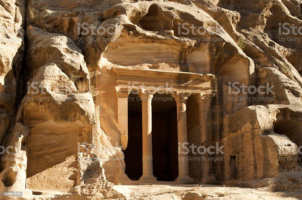 Ancient City of Little Petra, Jordan royalty-free stock photo