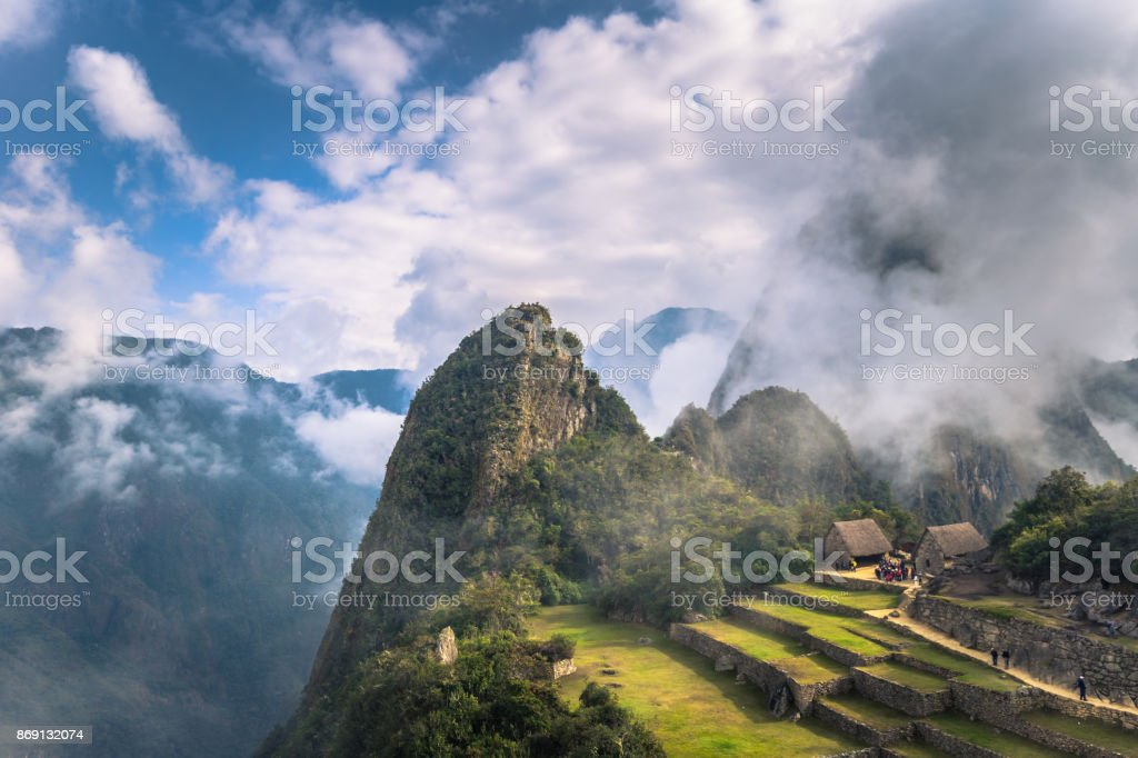 Machu Picchu, Peru - August 03, 2017: Ancient City of Machu Picchu, Wonder of The World, Peru stock photo