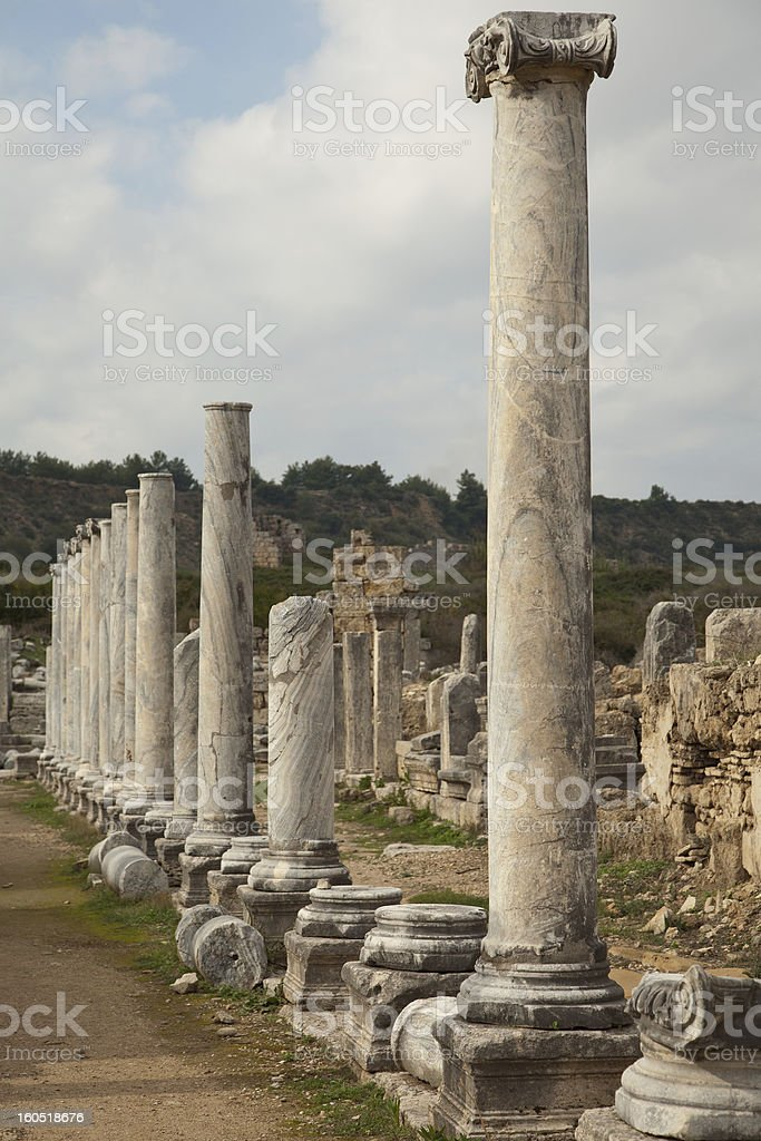 Ancient City Of Perge stock photo