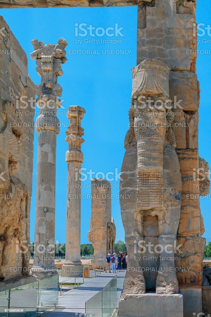 Ancient city of Persepolis is Iran's most famous archaeological site. stock photo