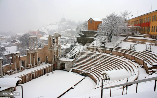 Ancient part from Plovdiv city, Bulgaria