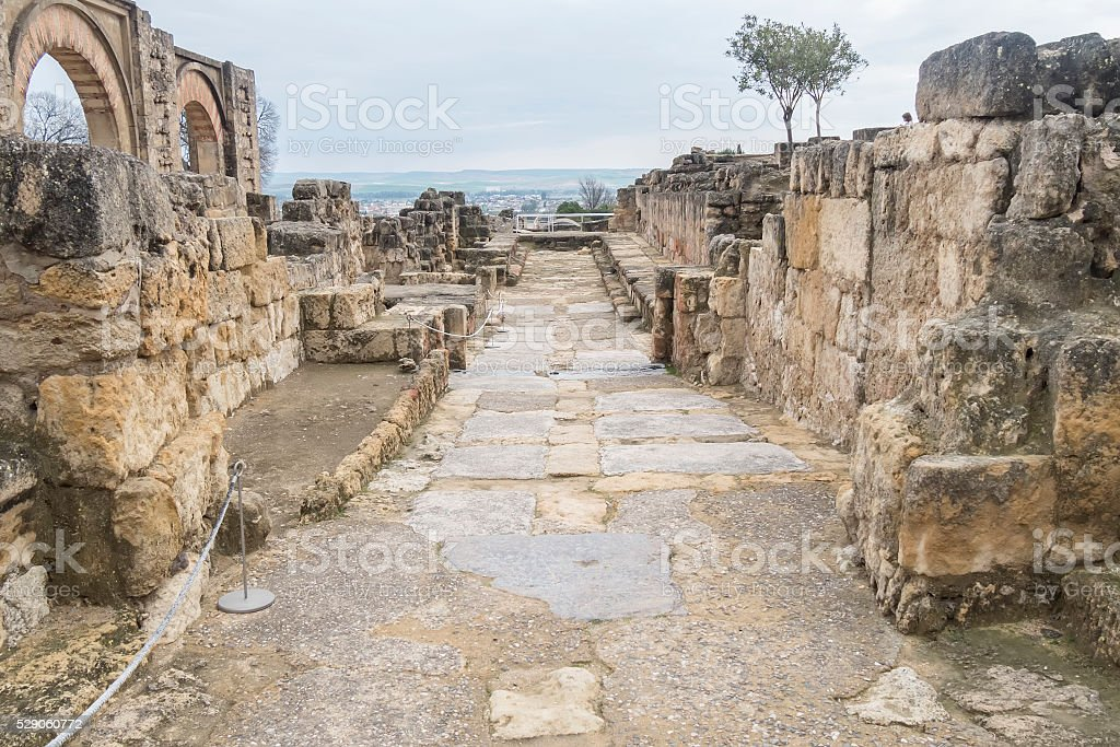 Ancient city ruins of Medina Azahara, Cordoba, Spain stock photo