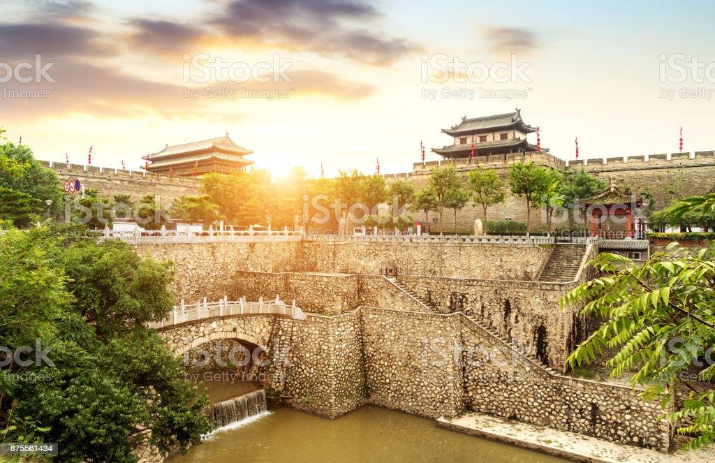 Ancient City Wall stock photo