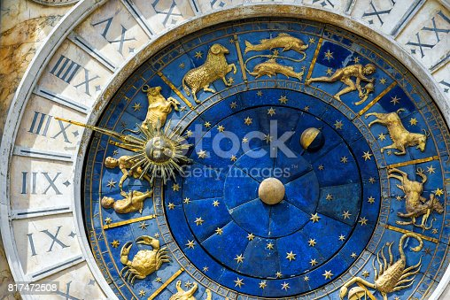 istock Ancient clock in the St. Mark's Square in Venice 817472508