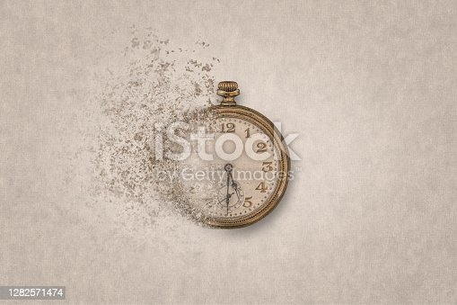 Concept of end of time or time flying.